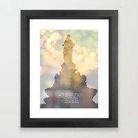 I stand tall.. Framed Art Print
