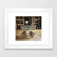 Vintage Stroller Framed Art Print