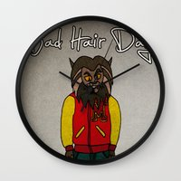 bad hair day no:5 / Thriller Wall Clock