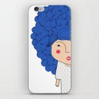 Mss Blue iPhone & iPod Skin