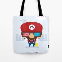 mario 3d Tote Bag