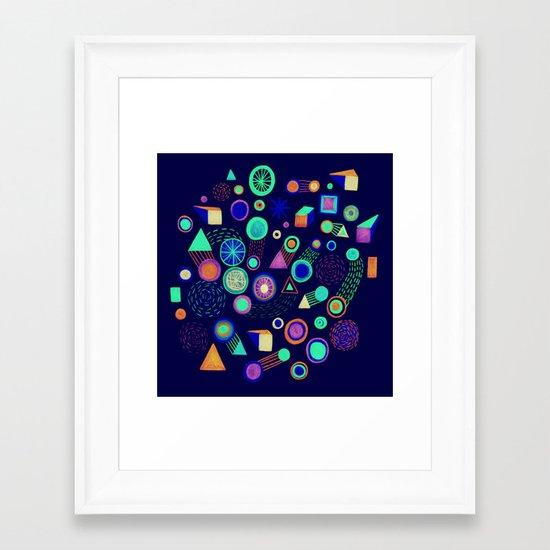 Galaxies II Framed Art Print