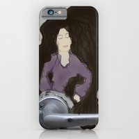 iPhone & iPod Case featuring The Door knob Lady by AntWoman