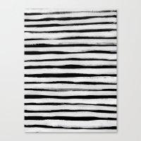 Black And White Stripes … Canvas Print