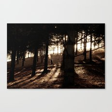 Running in the Dust Canvas Print