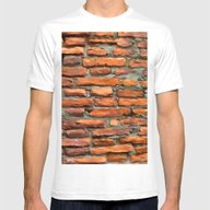 BrickWall1 Mens Fitted Tee White SMALL