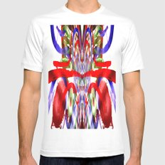 Color and lines in space SMALL White Mens Fitted Tee