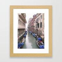 Streets in Venice Framed Art Print
