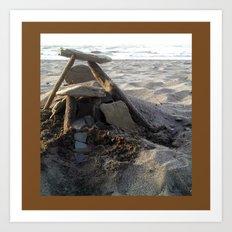House on the Beach... Art Print