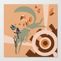 Canvas Print featuring Fly By by Doc Diventia