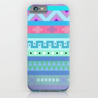 iPhone & iPod Case featuring Calm Colored Tribal Print by Little_Biscuit