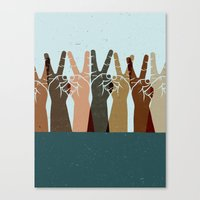 UNITED IN PEACE Canvas Print