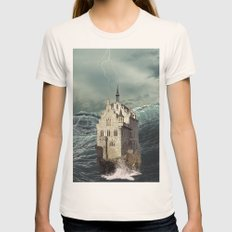 Castle In The Sea 2 Womens Fitted Tee Natural SMALL