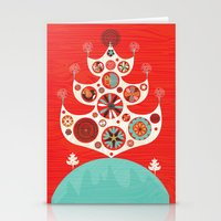 Festive Yule Christmas T… Stationery Cards