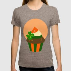 A Cup With The Cake  Womens Fitted Tee Tri-Coffee SMALL