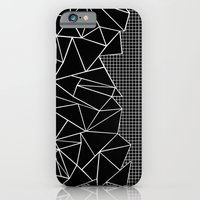 Abstract Grid Outline Wh… iPhone 6 Slim Case