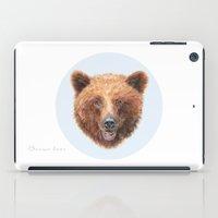 Brown Bear portrait iPad Case