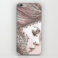 Flower Face  iPhone & iPod Skin
