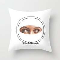 A BLACK BEAUTY     By Da… Throw Pillow