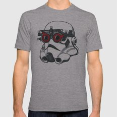 Stormtrooper Eyetest Mens Fitted Tee Athletic Grey SMALL