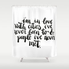 Inspiring quote // Brushlettering Shower Curtain