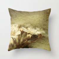 Spiraea Flowers Throw Pillow