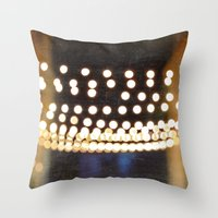 Floating Bokeh Throw Pillow