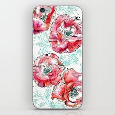 Poppies & Vines iPhone & iPod Skin