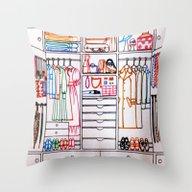 Vintage Room Throw Pillow