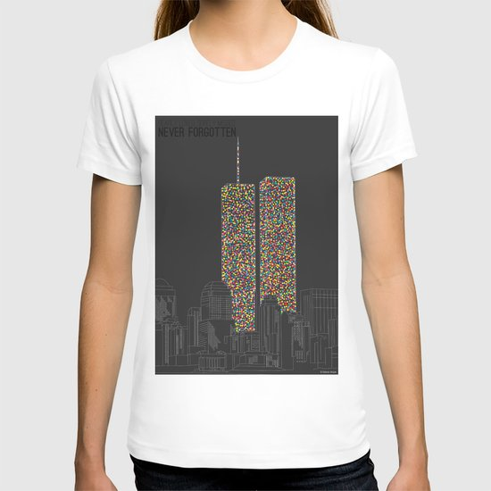2606 Souls compose The Twin Towers T-shirt
