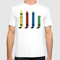 Not The Sharpest Crayon Mens Fitted Tee White SMALL