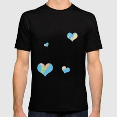 Love Makes the World Go Round SMALL Black Mens Fitted Tee