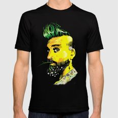 GREEN BEARD Mens Fitted Tee Black SMALL