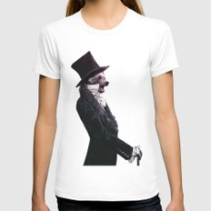 Unbearable gentleman Womens Fitted Tee White SMALL