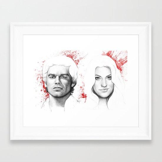 Dexter and Debra Framed Art Print