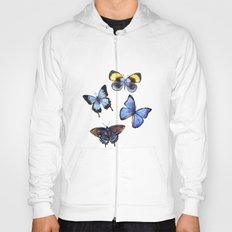 Pattern with butterflies Hoody
