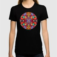 Perroquet Womens Fitted Tee Black LARGE