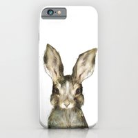 rabbit iPhone & iPod Cases featuring Little Rabbit by Amy Hamilton