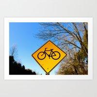 Bicycle for life. Art Print