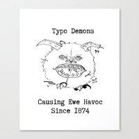Typo Demons Canvas Print