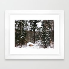 Somewhere in the Haliburton forest Framed Art Print