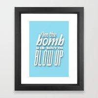 I'm the bomb 3D Poster Framed Art Print