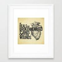 Psalm 147:3 Framed Art Print