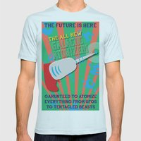 The Galactic Atomizer Mens Fitted Tee Light Blue SMALL