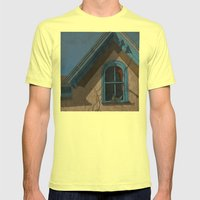 Looking In Mens Fitted Tee Lemon SMALL
