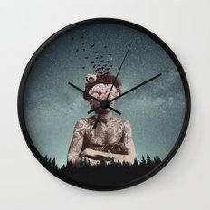 Forest Witch Wall Clock