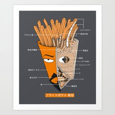 French Fries Anatomy Art Print