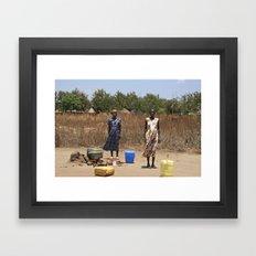 Ma'di Women Framed Art Print
