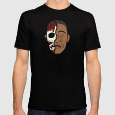 Faces of Breaking Bad: Gustavo Fring (Face-Off) Mens Fitted Tee Black SMALL