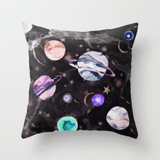 Marble Galaxy Throw Pillow